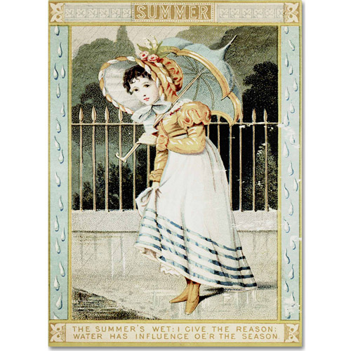 "Trademark Fine Art ""Summer Rain"" Canvas Art by Vintage Apple Collection"