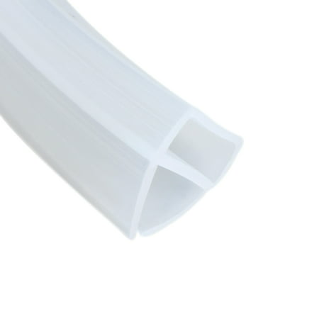 78.7-inch U Shaped Frameless Window Shower Door Seal Clear for 5/16-inch Glass