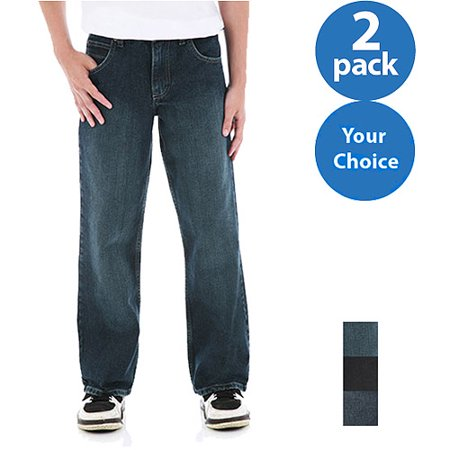 Wrangler Boys Classic Boot Cut Jeans, 2 Pack