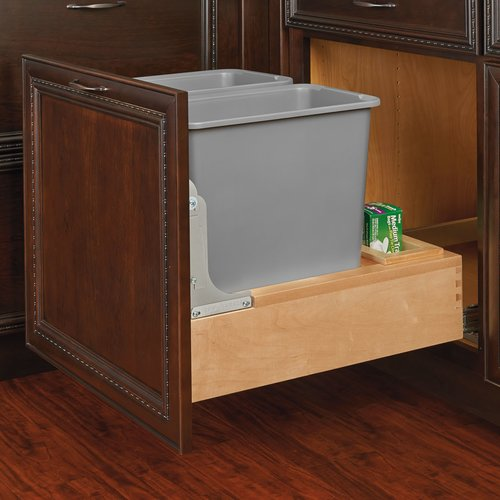 revashelf plastic 75 gallon pull out trash can