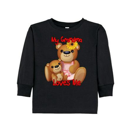 My Grandma Loves Me Teddy Bear Toddler Long Sleeve T-Shirt