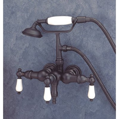 Elizabethan Classics ECTW02 Wall Mount Clawfoot Tub Faucet with Hand Shower