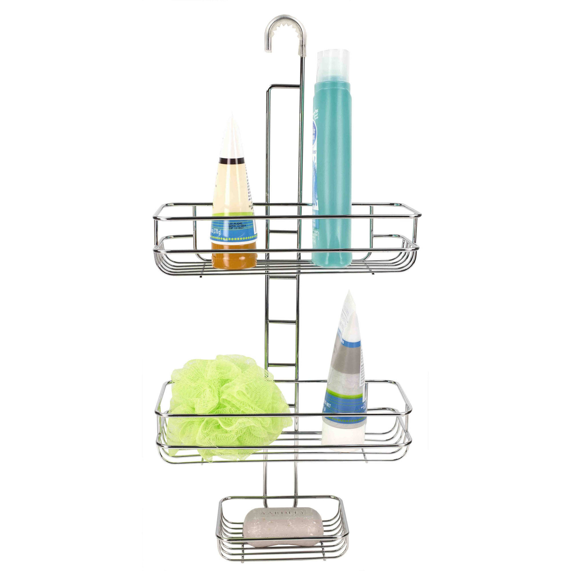 Home Basics 2 Tier Chrome Shower Caddy with Soap Dish by HDS TRADING CORP