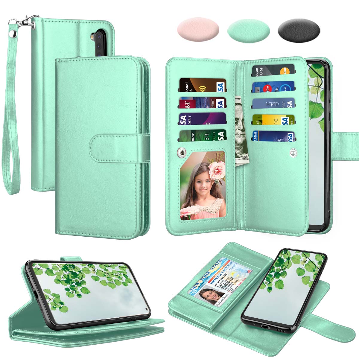 Galaxy A11 Case, [US Version] Samsung Galaxy A11 Wallet Case, Takfox PU Leather Case Cash ID