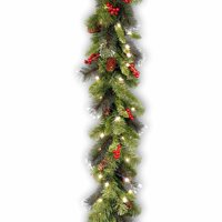 """9' x 10""""  Pre-Lit Crestwood Spruce Artificial Christmas Garland - Clear Lights"""