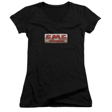 Gmc Beat Up 1959 Logo Juniors V Neck Shirt