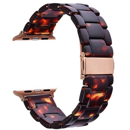 Impressive Trends - 38mm - Tortoise Resin Bracelet Band for Apple Watch for Apple Watch Series 1, Series 2, Series 3- 38MM - Walmart.com