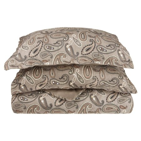 Superior Flannel Quality Cotton Paisley Duvet Cover Set