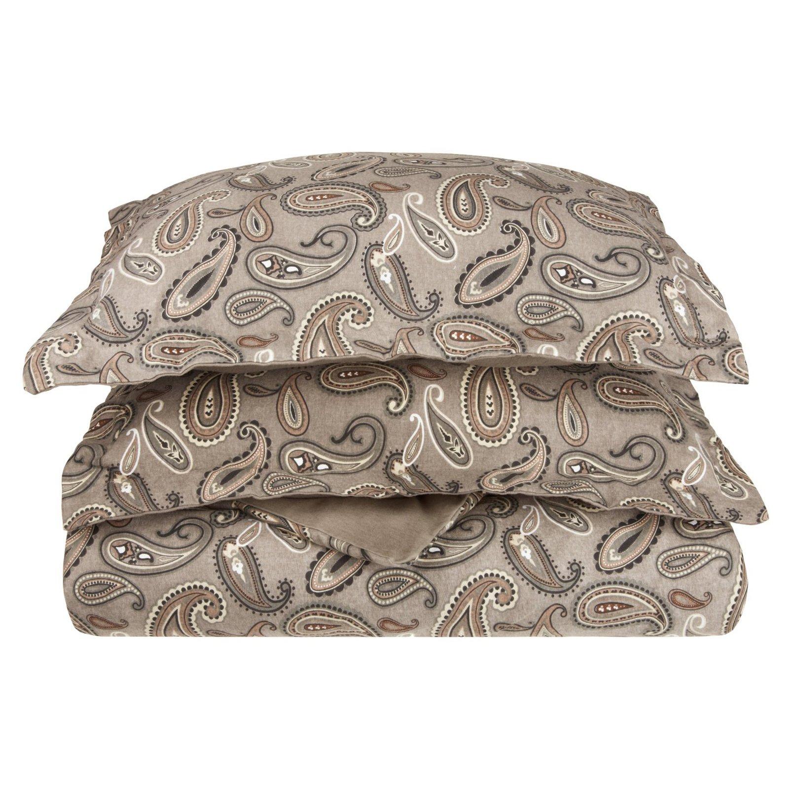 Superior Flannel Quality Cotton Paisley Duvet Cover Set