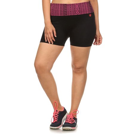 91829aa90aec7 Junior Gym Bike Exercise Yoga Shorts , Hot Pink, L