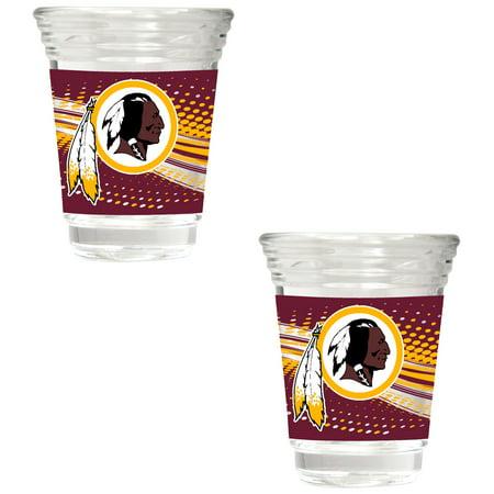 Washington Redskins 2-Piece 2oz. Party Shot Glass Set - No Size - Redskins Party