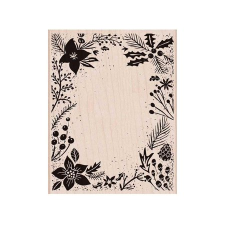 Hero Arts Rubber Stamp Holiday Floral Background Background Mounted Rubber Stamp