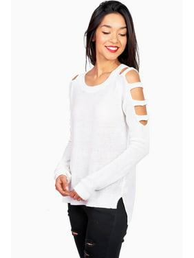 3c0903cb40 Product Image Zenana Women s Juniors Knit Sweater w Shoulder Cut Outs (S