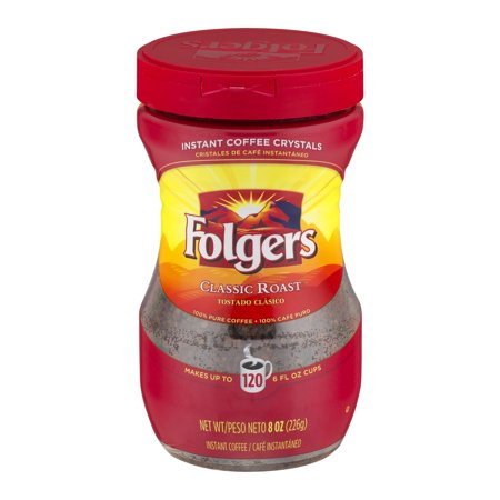 Folgers Instant Coffee Crystals Classic Roast  8 0 Oz