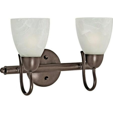 - Boston Harbor Dimmable Vanity Light Fixture, (2) 60/13 W, Medium, A19/Cfl Lamp, Venetian Bronze