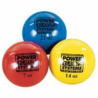 Power Systems 26114 Power Throw-Ball Softball Medicine Ball - Yellow