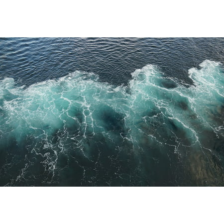 Framed Art For Your Wall Wave Ocean Sea White Blue Foam Water 10x13 Frame