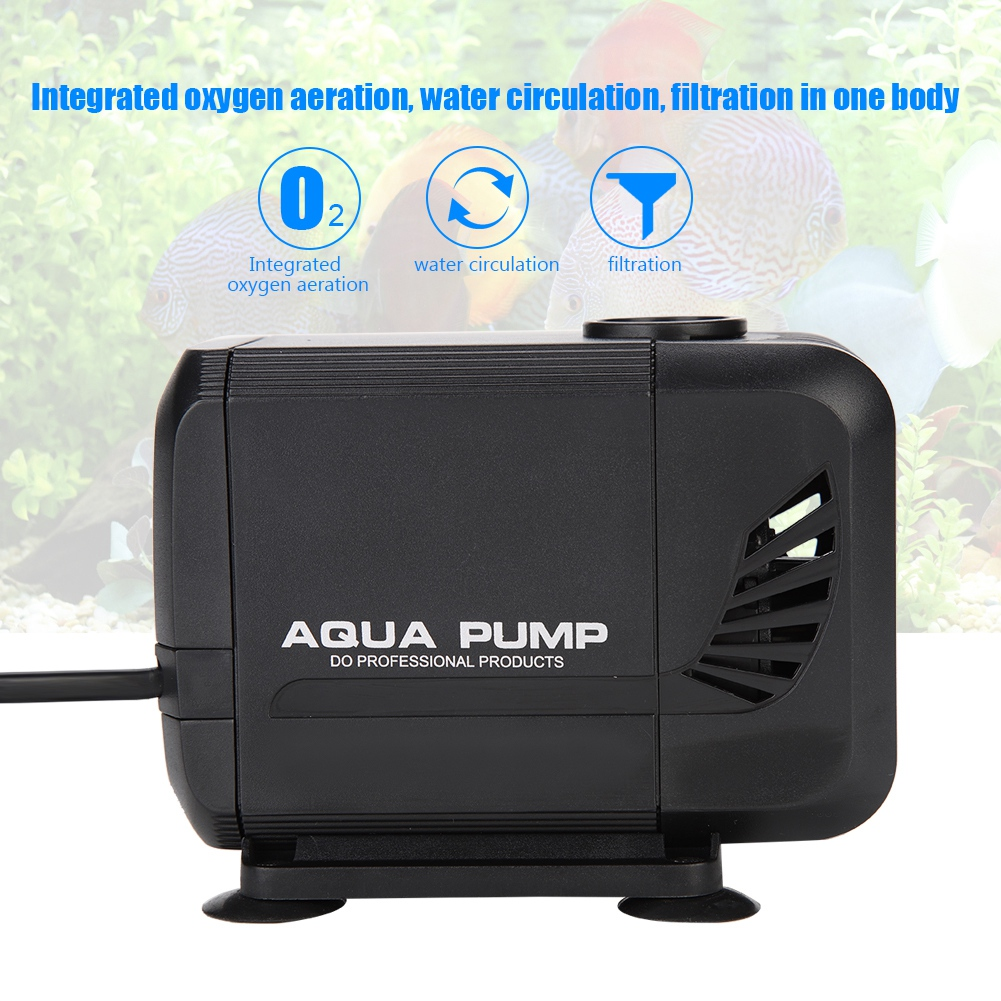 WALFRONT Fish Tank Aquarium Submersible Pump Fountain Pond Water Circulation 110V US Plug,Fish Tank Submersible Pump,Aquarium Water Pump - image 4 de 7