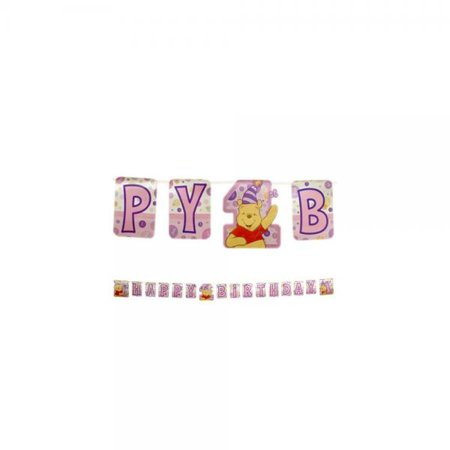 pooh s first birthday girl banner walmart com