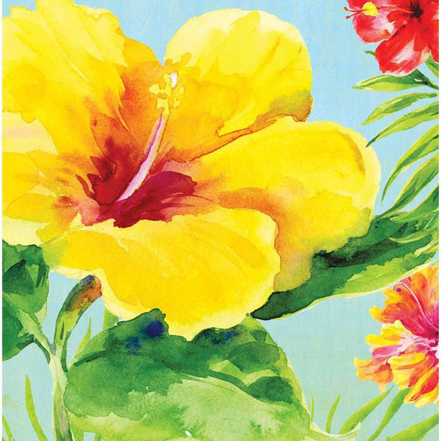 Heavenly Hibiscus Napkins, 18-Pack