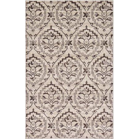 unique loom damask beige area rug