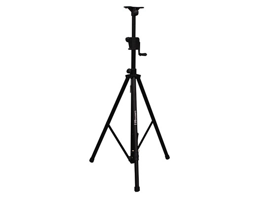 Odyssey LTS1APRO Articulating TriLeg Crank-Up Tripod Speaker Stand Black Color by