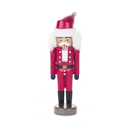 Santa Claus in Red German Wood Miniature Christmas Nutcracker Mini 5 Inch