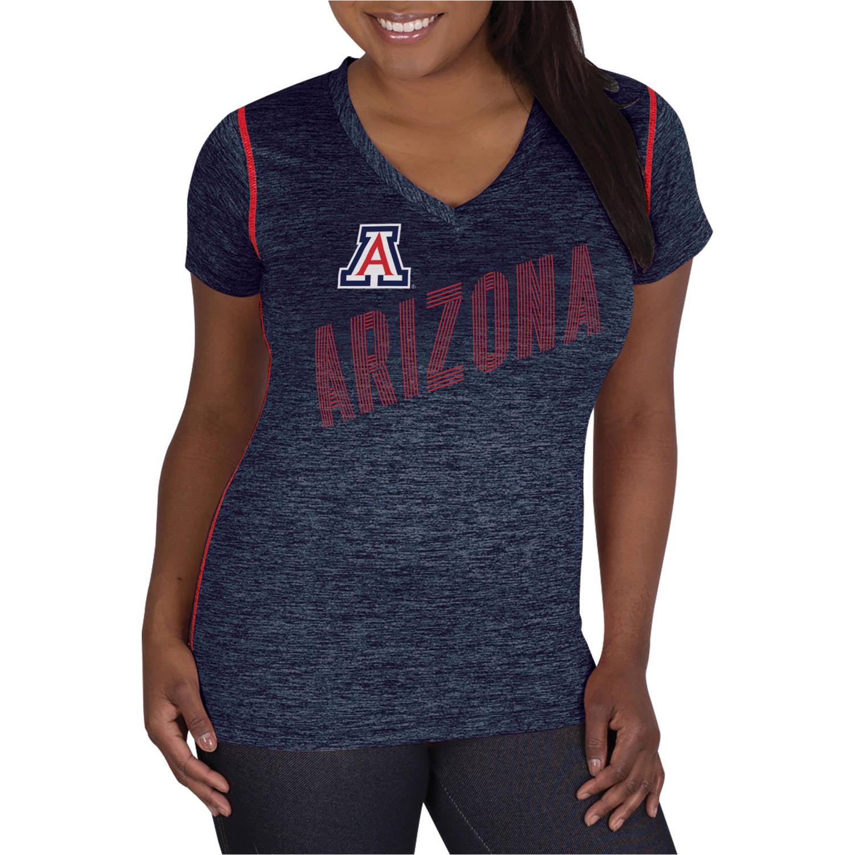 NCAA Arizona Wildcats Ladies Classic-Fit Synthetic V-Neck Tee