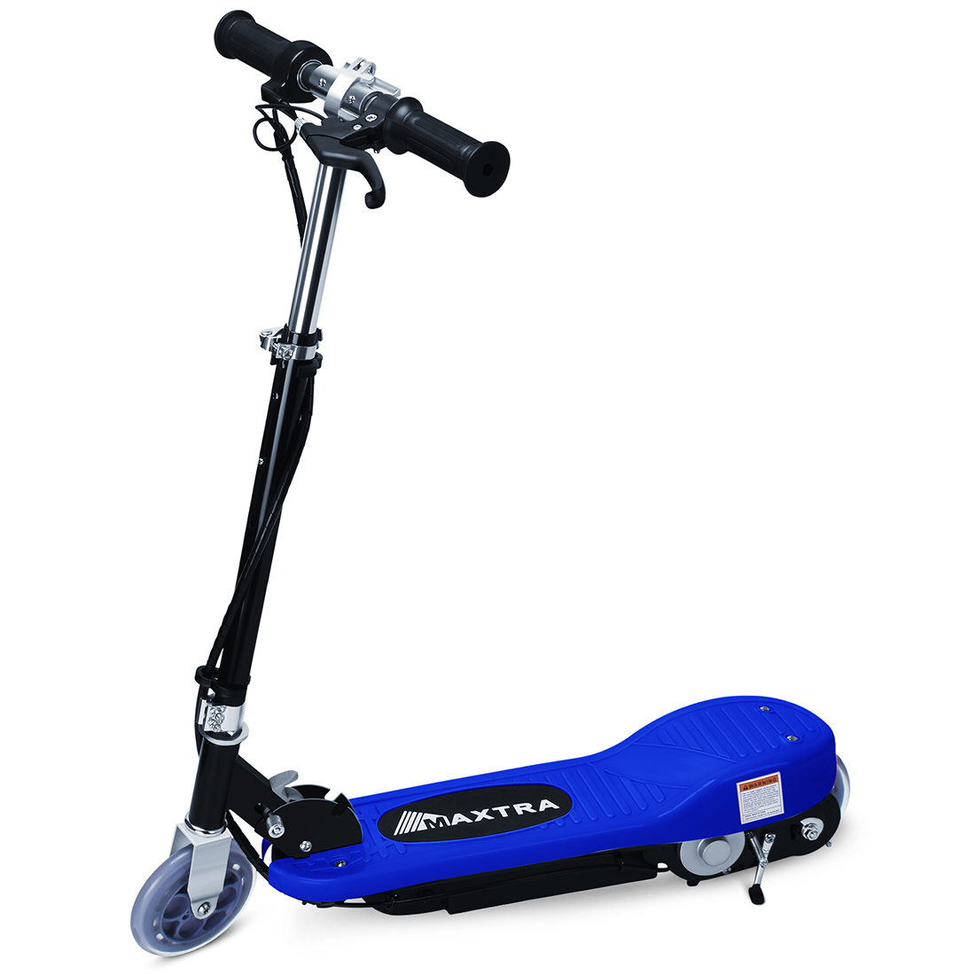 Maxtra ASTM Approved E120 160lbs Max Weight Capacity Electric Scooter Motorized Bike Rechargeable Battery Dark Blue