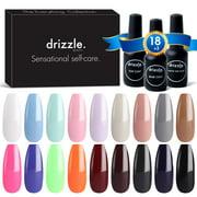 Drizzle 21 Pcs Gel Nail Polish Set, 15ml DIY Soak Off Red Brown Black Nude Gel Polish Set UV LED Gel Nail Kit with Glossy & Matte Top Coat and Base Coat - Best Reviews Guide