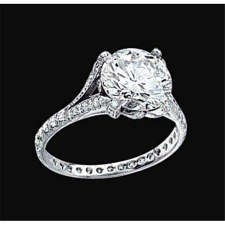 Harry Chad Enterprises 1279 2.36 CT Diamonds Royal Engagement Ring - White Gold - image 1 of 1