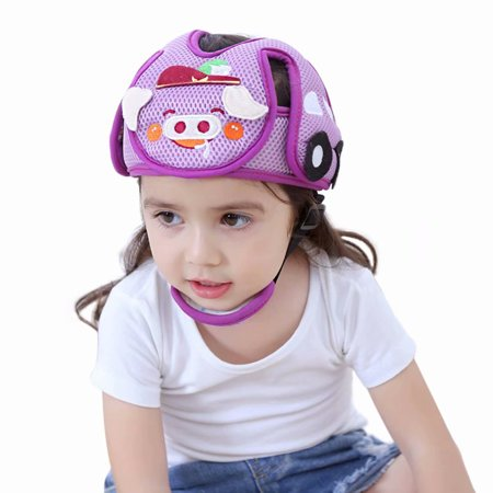 Baby Infant Toddler Safety Protective Helmet Head Protection Soft Hat Cap for Children Head Cap Walking Assistant-Pink Pig