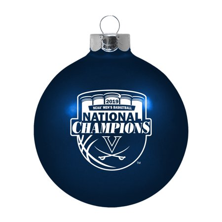 Virginia Cavaliers 2019 NCAA Basketball National Champions Glass Ball - Virginia Cavaliers Ball