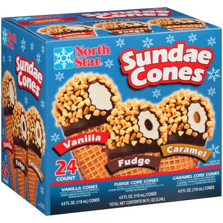 North Star Sundae Cones Vanilla Fudge Amp Caramel 24 4