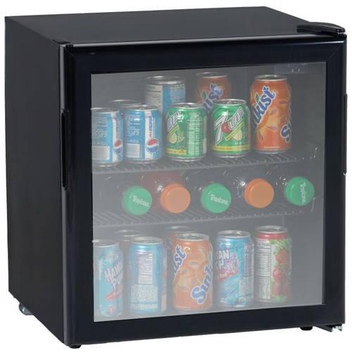 1.9 CF Beverage Cooler Black with Glass Door