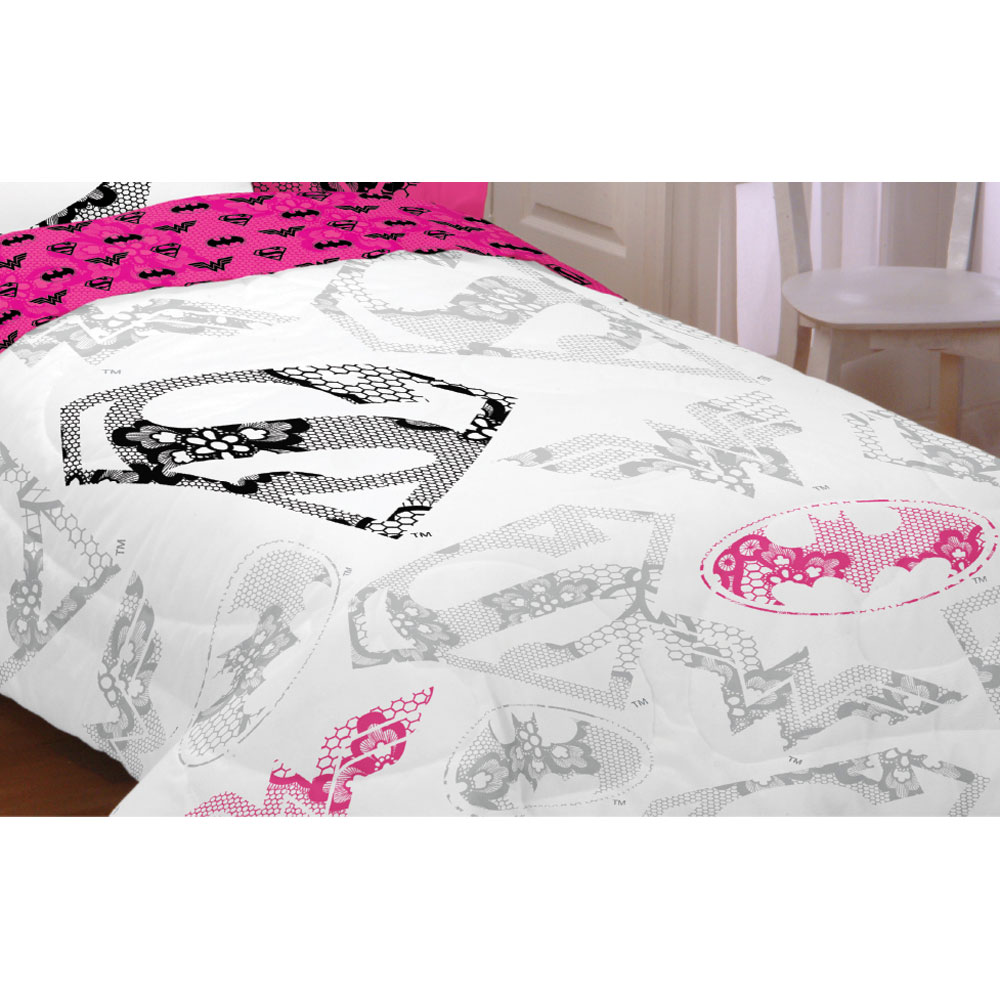 Franco Manufacturing Company Inc 18082885 Justice League Girl Twin-full Comforter Awesome Power Bed