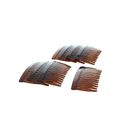 Tortoise Multi-Purpose Hair Combs - Set of Eight (8) - image 2 de 2