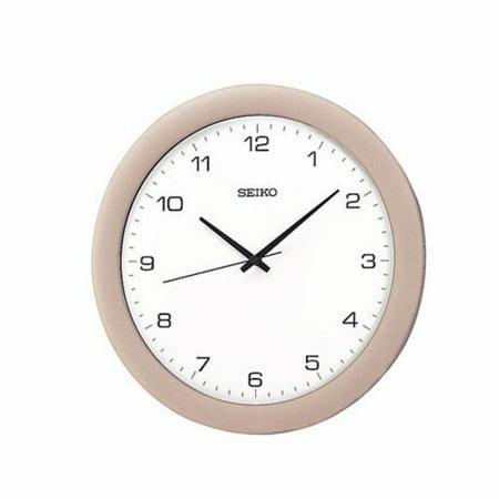 Seiko Silver & White Wall Clock