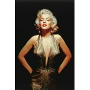 Glamorous Marilyn Monroe - Gold Dress 36x24 Art Print Poster Sexy Photograph
