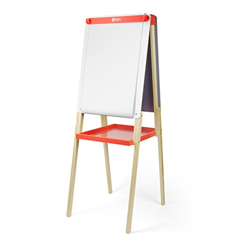 u play adjustable childrens art easel double sided chalk and dry