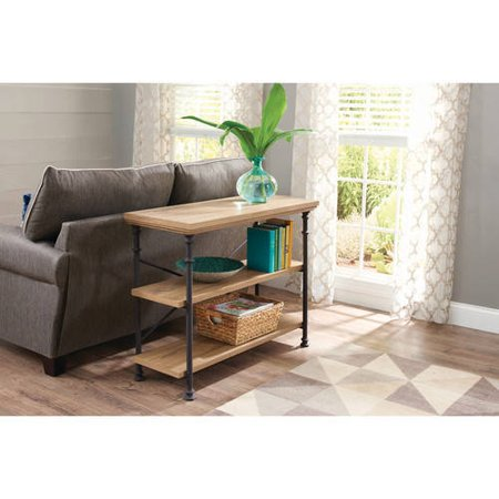 Better Homes and Gardens River Crest Anywhere Console, Rustic Oak Finish