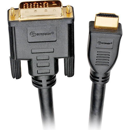 Steren Black Hdmi To Dvi-d Cable - 30'