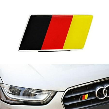 iJDMTOY (1) Germany Flag Emblem Badge Fit Germany Car Front Grille, Ex: Audi BMW Mercedes Porsche Volkswagen,