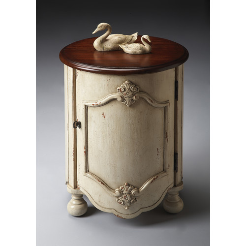 Butler Drum Table - Vanilla and Cherry