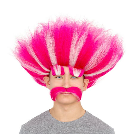 Adult Deluxe King Troll Wig and Mustache Kit (King Wig)