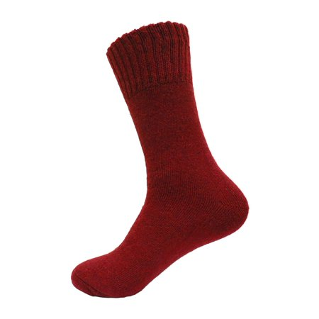 Women's Super Warm Heavy Thermal Merino Wool Winter Socks 9-11 (Red)