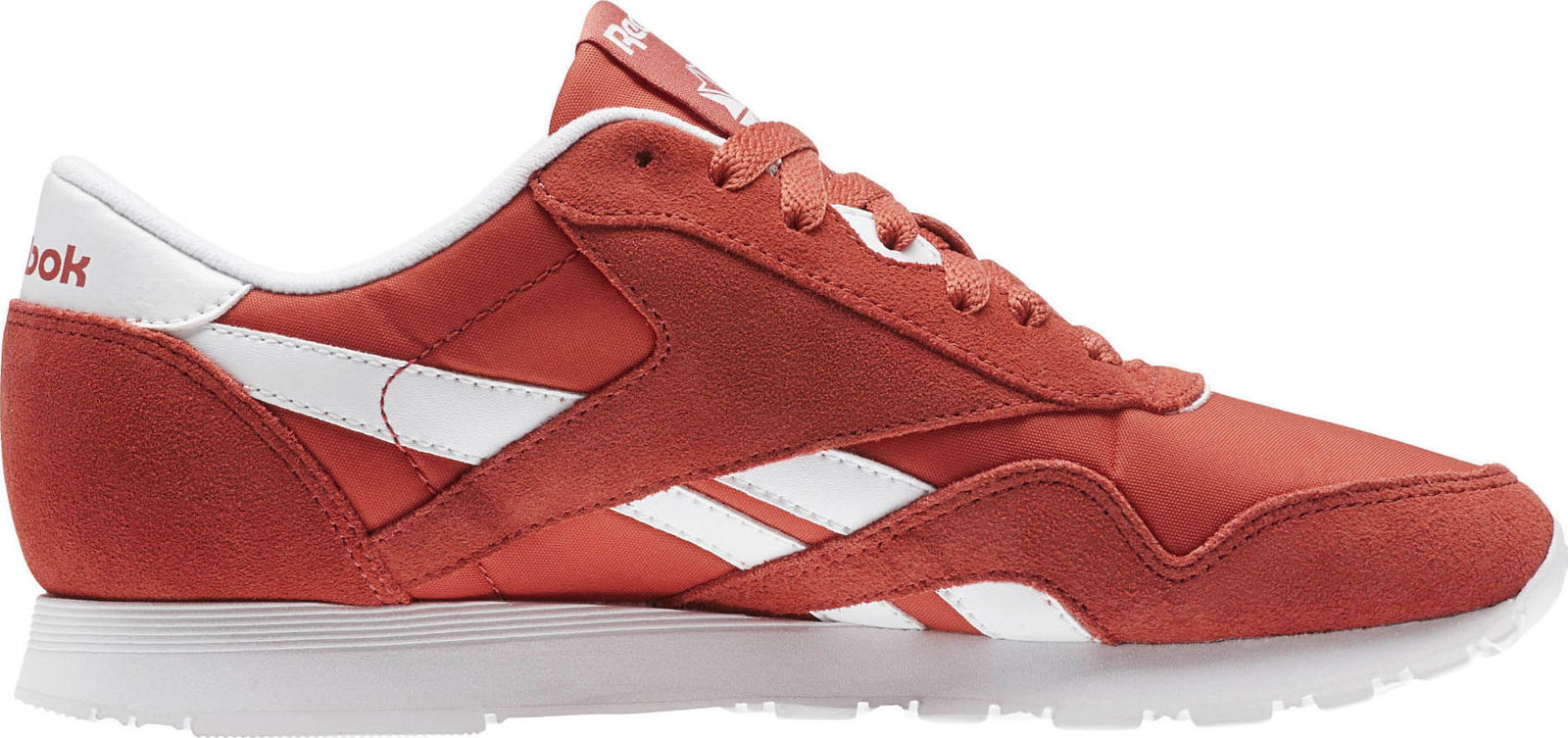 Reebok BS9377: Women's CL Nylon Neutrals Clay Tint White Sneaker by