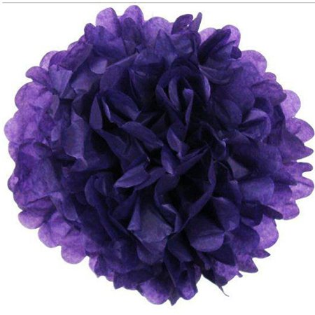 Efavormart 12 PCS Paper Tissue Wedding Birthday Party Banquet Event Festival Paper Flower Pom Pom 10 - Pom Poms Blue And White