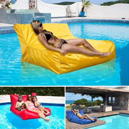 Hurrise Swimming Pool Floating Bean Bag Cover Waterproof Reading Relaxing Soft Lounge Chair Sofa