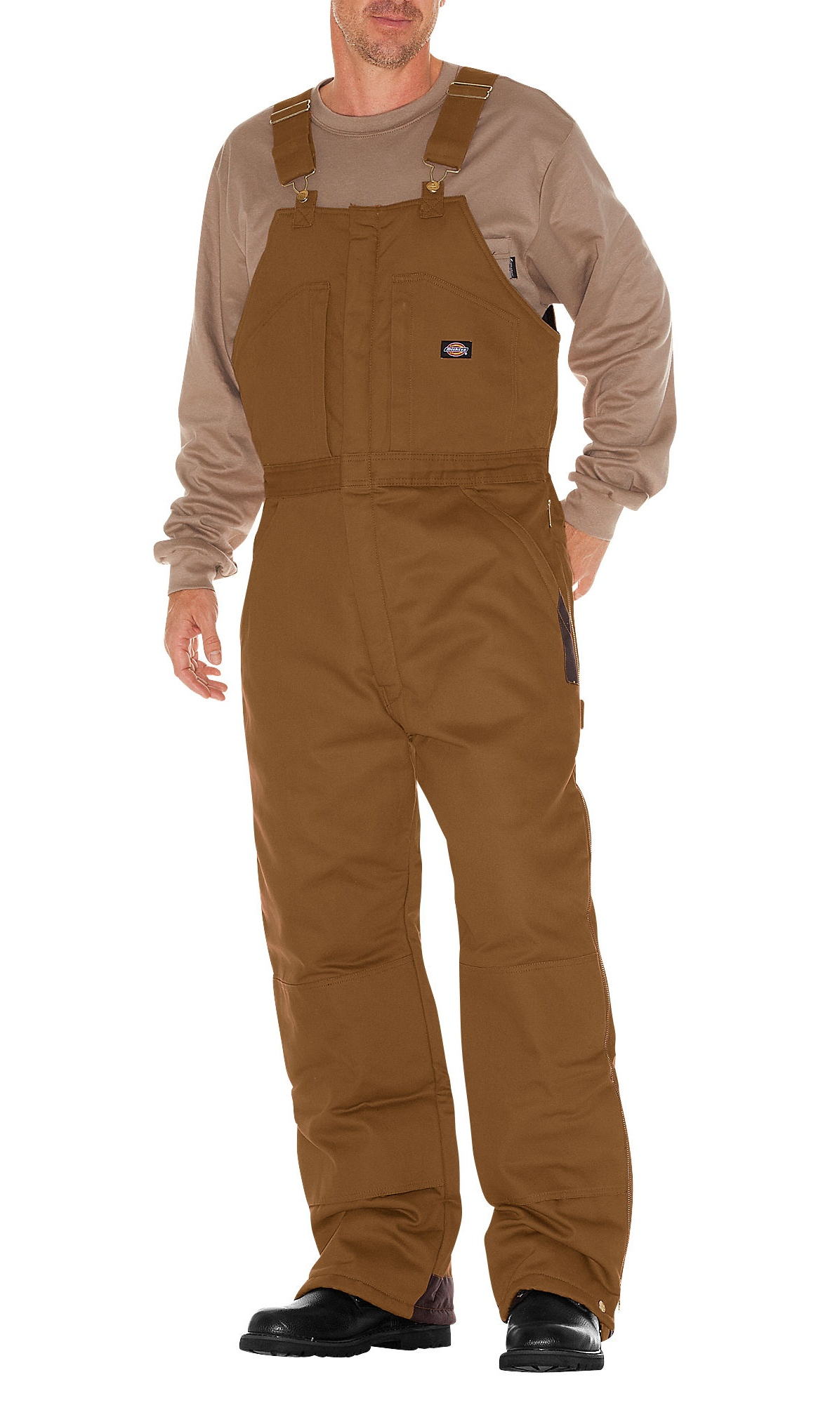 Dickies Mens Duck Insulated Bib Overall, Brown Duck 5X RG by Dickies